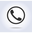 Phone handset icon vector