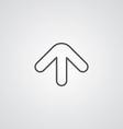 Arrow outline symbol dark on white background logo vector
