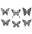 Black butterfly tattoos vector