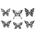 Black butterfly tattoos vector