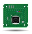 Green circuit board vector