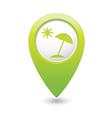 Beach icon green map pointer vector