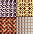 Retro triangle patterns background vector