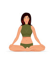 Young woman doing yoga exercise vector