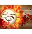 Autumn sale background with copyspace plus eps10 vector