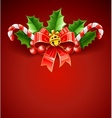 Christmas decoration of red vector