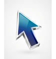 3d glossy arrow mouse pointer vector