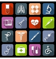 Medical icons flat vector