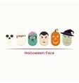 Halloween face vector