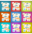 Colorful infographics paper layout set vector