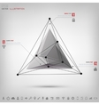 Abstract polygonal geometric background with web vector