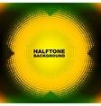 Abstract color halftone circle vector