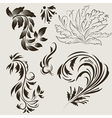 Abstract floral ornaments vector