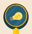 Light bulb with magnifying glass vector