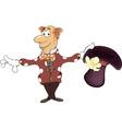 A magician gnome cartoon vector