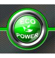 Green power button vector