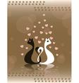 Pair loving cats vector