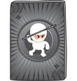 Ninja card vector