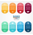 Color stickers and labels for infographic template vector