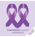 Pancreatic cancer ribbon vector