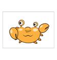 Crab cartoon vector