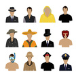 Set of avatar icons vector