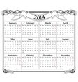 Calendar grid 2014 blank template vector