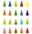 Set happy birthday cap vector