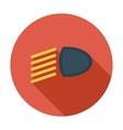 Headlight flat icon vector