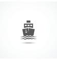 Ship icon vector
