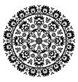 Polish folk art pattern in circle - wzory lowickie vector