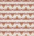 Stripy floral seamless pattern vector