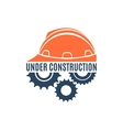 Under construction conceptual logo vector
