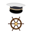 Navy hat and wheel vector