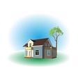House and garden vector