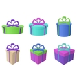 Boxes multi-coloured different forms vector