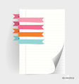 Note papers with cute ribbons ready for your vector