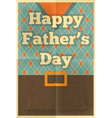 Fathers day poster waistcoat vector