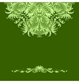 Paper pattern on green background vector