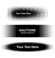 Abstract halftone design elements vector