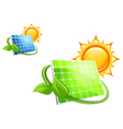 Solar panels and batteries vector