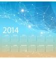 2014 calendar grid design template vector
