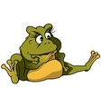 Sitting frog vector