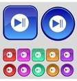 Arrow sign icon next button navigation symbol set vector