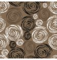 Seamless beige grunge rose pattern vector