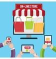 Mobile shopping concept vector