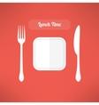Plate fork and knife made in moder flat design vector