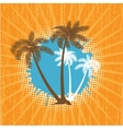 Summer background with grunge beach palms vector