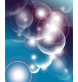 Abstract background dark blue with bubbles and lig vector