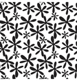 Seamless black and white branches and leaves vector
